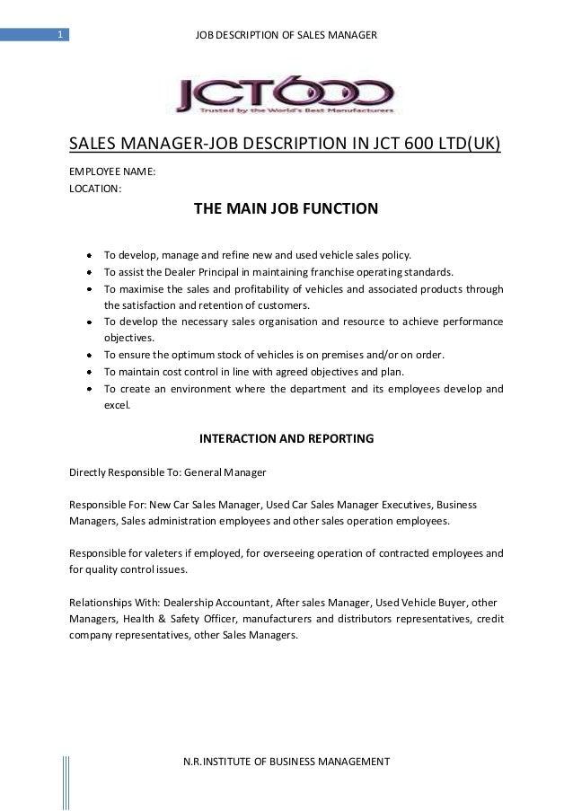 Hr job description for jobs
