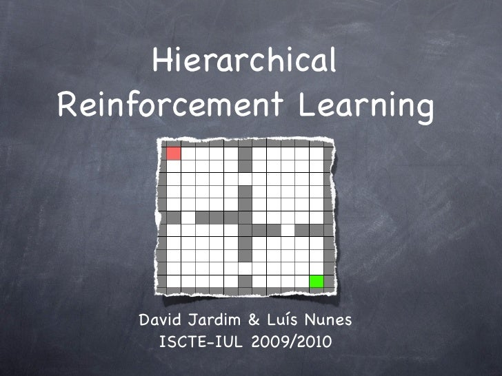 Hierarchical Reinforcement Learning         David Jardim & Luís Nunes       ISCTE-IUL 2009/2010
