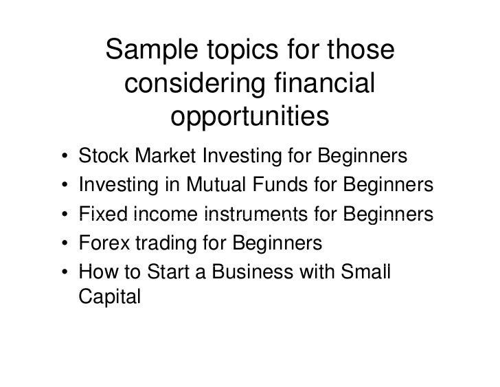 how to start a financial literacy program