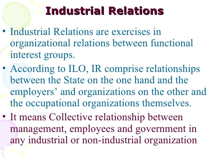 ilo the employment relationship