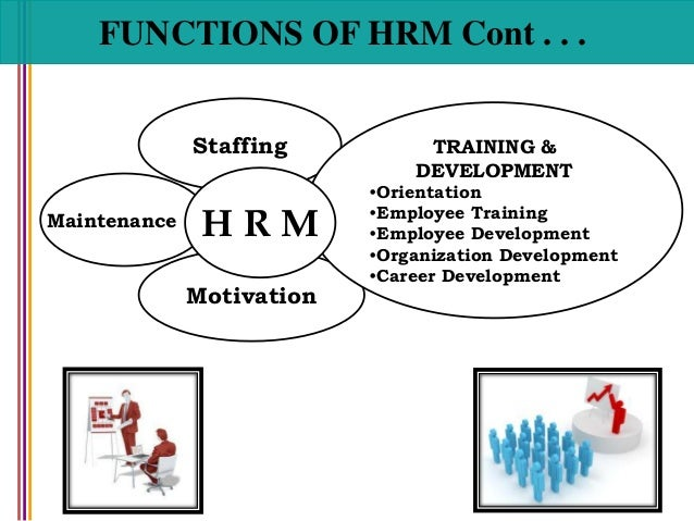 what are the functions of hrm in an organization