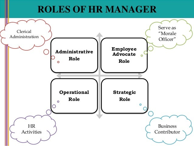 human resources manager duties