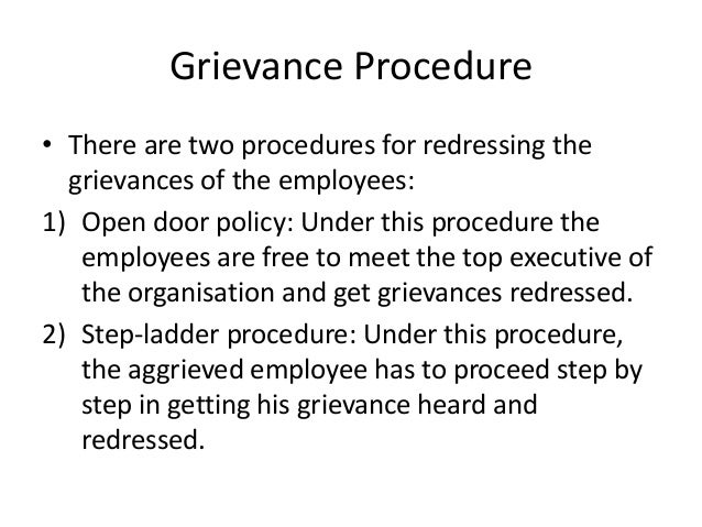 HRM: EMPLOYEE GRIEVANCE AND REDRESSAL