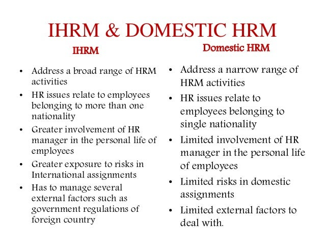 differences between hrm and international hrm essay Differences and similarities between domestic and international hrm download differences and similarities between domestic and international hrm or.
