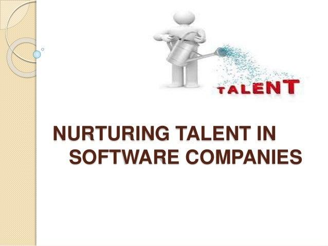 Nurturing talents in software companies