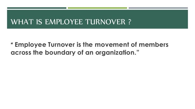 the high employee turnover in the Top 5 reasons for employee turnover categories: employee involvement there are all sorts of causes for high turnover, but one big culprit is workplace stress.