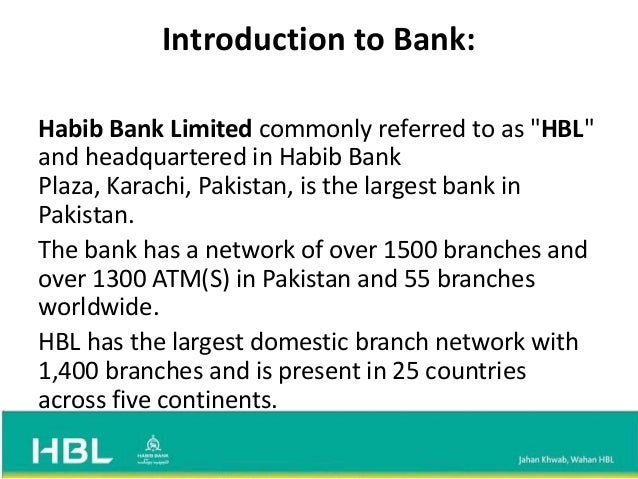 Habib bank limited swot analysis