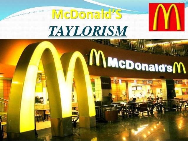 McDonald'S TAYLORISM