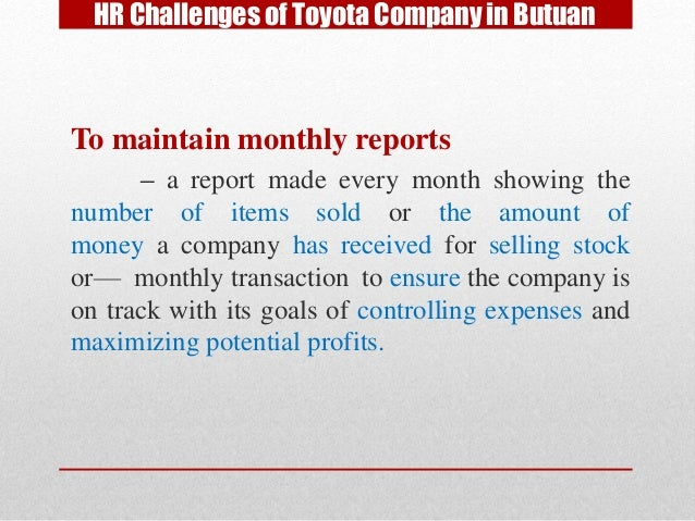 report on toyota company