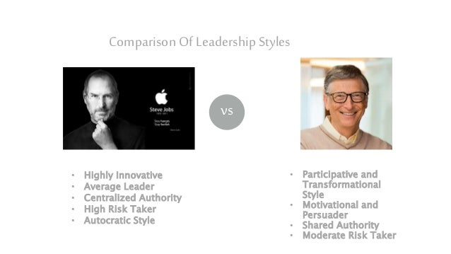 Bill gates and donald trump leading style comparison