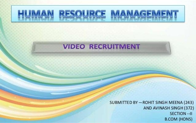 VIDEO RECRUITMENT (HRM)