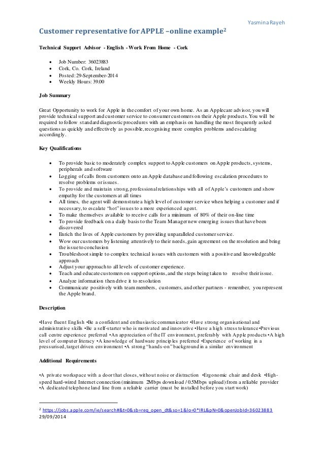 human resources management hrm case study recruiting for apple 9 yasminarayeh customer representativefor apple