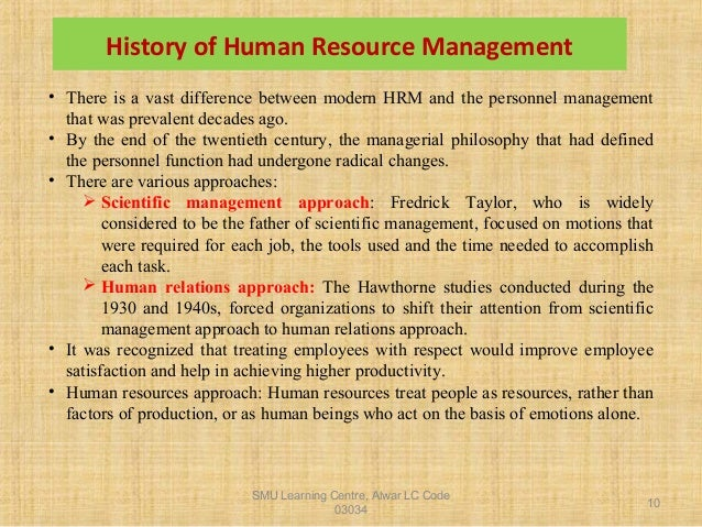 history of human resource management in the philippines Human resource management practices and their effects to faculty performance in selected private tertiary educational institutions in the philippines.