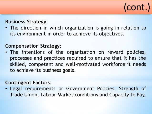 compensation and benefits strategies recommendations