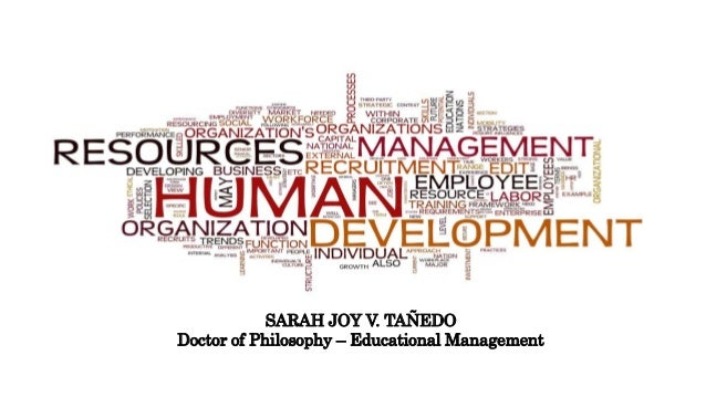 SARAH JOY V. TAÑEDO Doctor of Philosophy – Educational Management