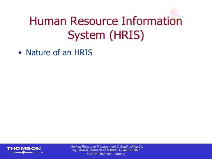 Hrm information systems