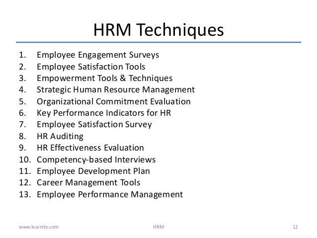 human resource techniques