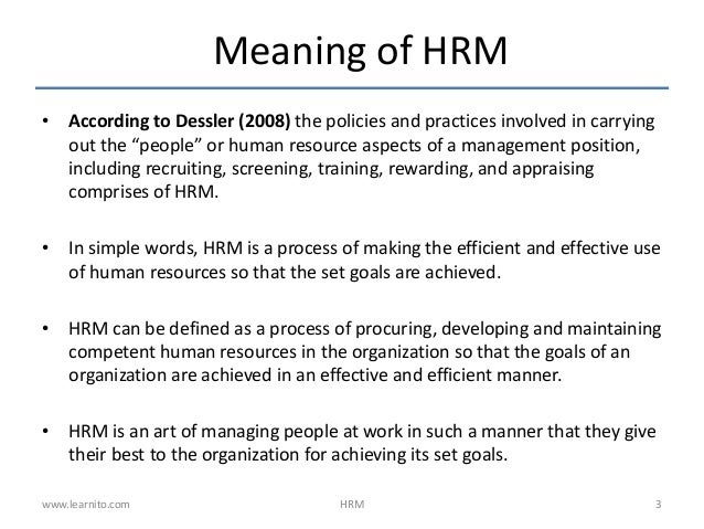 introduction to human resources Transcript - introduction to human resources  2 • identify important human resources principles for a small business, • explain the key processes in human.