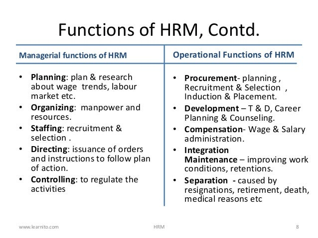 hrm and staffing function What is hrm human resource management (hrm) is the process of employing people, training them,  within the staffing function, there are four main steps.