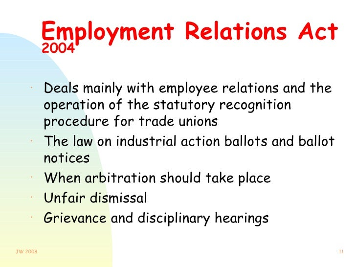employment relationship act slovenia
