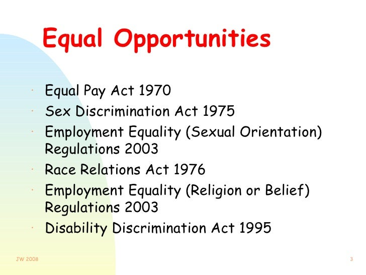 sexual orientation equality and hrm This chapter is about encouraging equality of opportunity and  religion or belief, sex and sexual orientation  having a written equality and diversity.