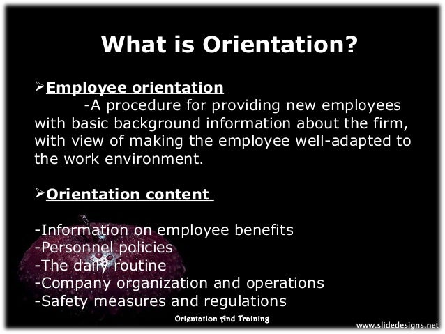 orientation program by hrm Your orientation program can provide employees with a proper introduction to your company, what's expected and where they fit in to overall goals.