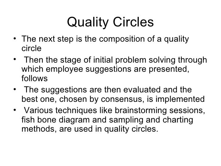 hrm quality circles Hrm quality circles &tqm we use your linkedin profile and activity data to personalize ads and to show you more relevant ads.