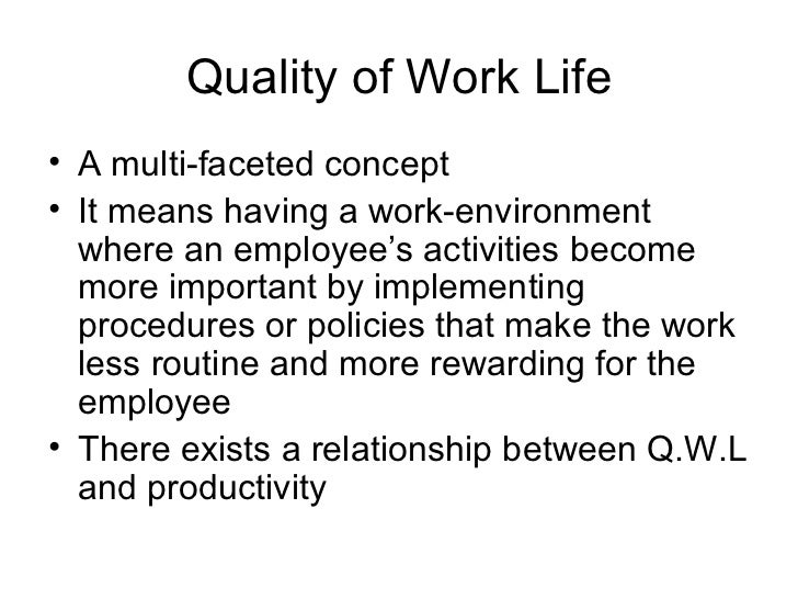 quality of work life in health Group exercise improves quality of life, reduces stress far more than individual work outs  physical and emotional approach to health that is necessary for student doctors and physicians.