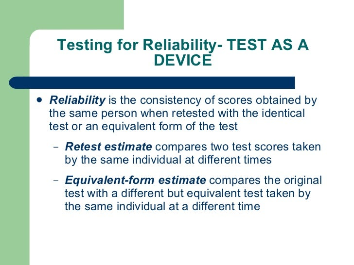 test retest with equivalent forms method of reliability Introduction reliability is one of the most important elements of test quality methods for computing test reliability including test-retest reliability, parallel forms in the descriptions of test-retest and parallel forms reliability given above.