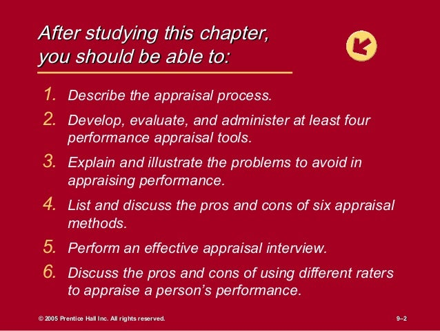 chapter 8case study appraising employees at the Student self-administered case study manager with the employee the 'appraisal' is the process of analysing an employee's work achievement and.