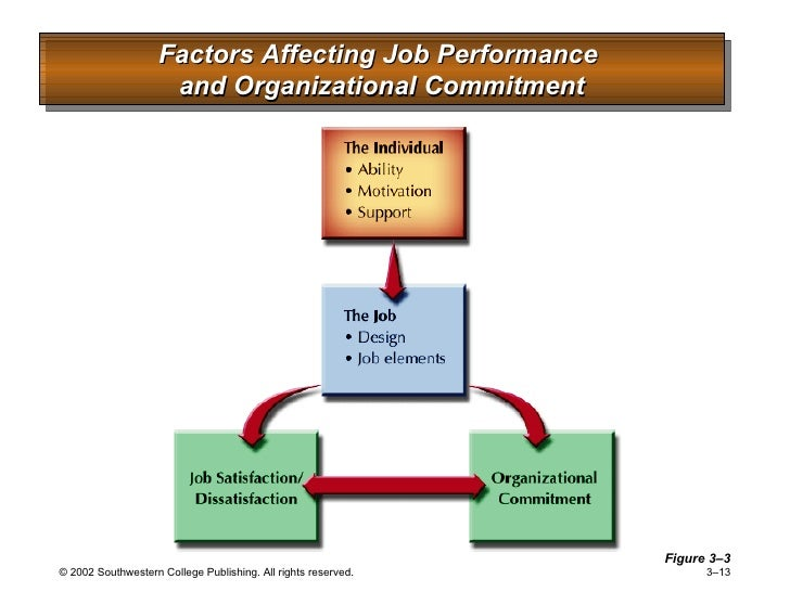 demographic factors influencing organizational commitment The sheer employees' characteristics, ie, demographic factors, besides the organisational factors, have a certain influence in this area perceptions of organizational structure in the hospitality industry, consequences for commitment , job satisfaction and perceived performance, tourism management, 29.