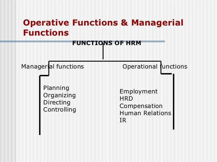 managerial functions of hrm pdf