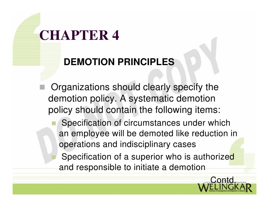 promotion demotion and transfer Employer to select employees for promotion or transfer and to de termine the  basis  company may fill job by promotion, demotion, transfer, or new hire if.