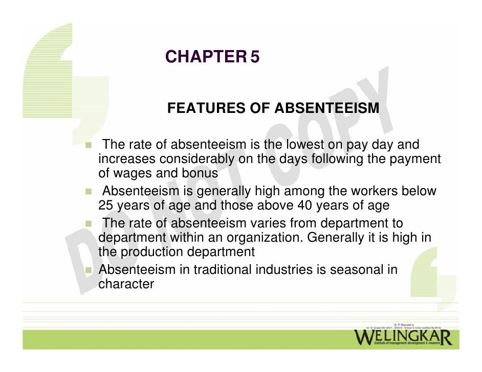 turnover and absenteeism essay Turnover and its calculation absenteeism meaning of absenteeism  employees to be present in work place as per timings or schedule fixed for the purpose   deviation from the fixed time reporting: co's loss  when an employee fails to report for duty on time without prior intimation.