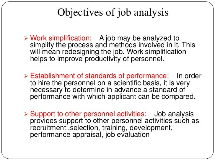 objective for job