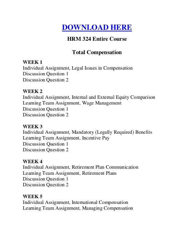 hrm 586 entire course Hrm587 hrm 587 managing organization change complete / entire / full course  this tutorial includes the following: final exam – set 1 - 16 pages.