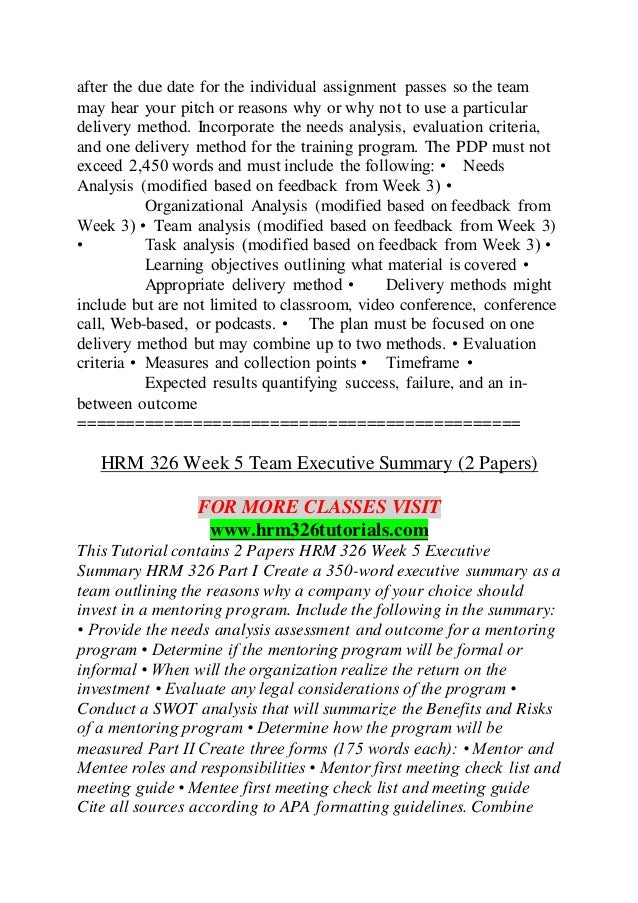 HRM 326 TUTORIALS Lessons in Excellence / hrm326tutorials com
