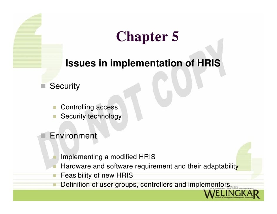 Human Resource Information System Hris Implementation