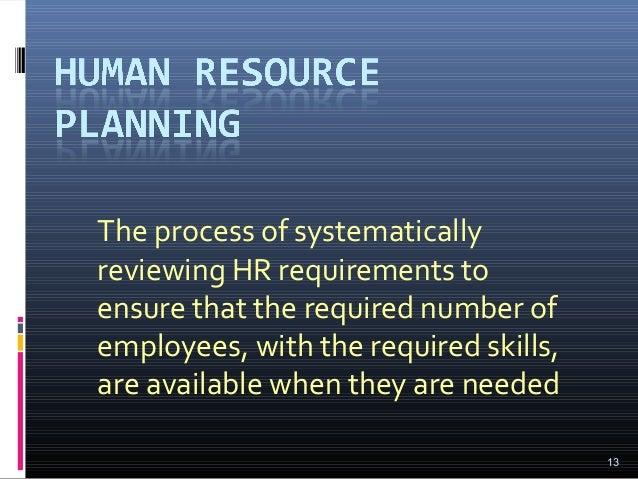 Job analysis and human resource requirement