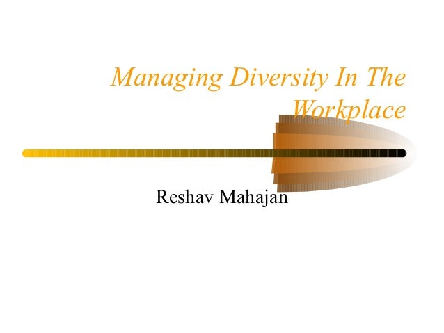 managing diversity in the workplace pdf