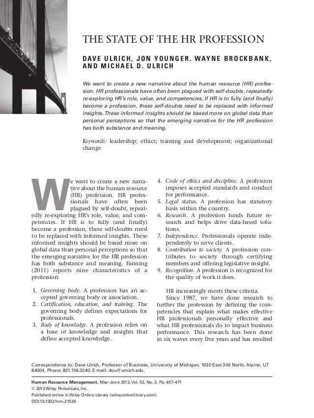 david ulrich hr model pdf