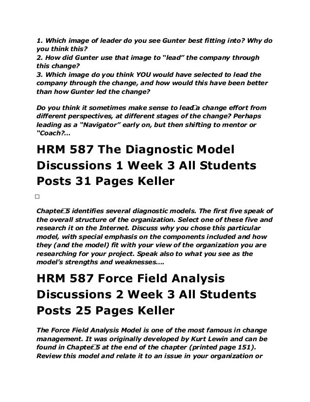 Keller HRM 592 Week 4 Course Project