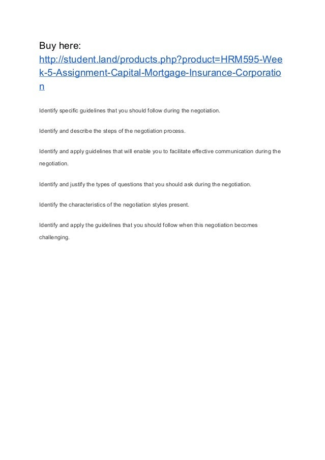 case summary for capital mortgage insurance Insurance companies and the financial crisis  in the case of a number of insurance companies,  including in mortgage and financial guarantee insurance.