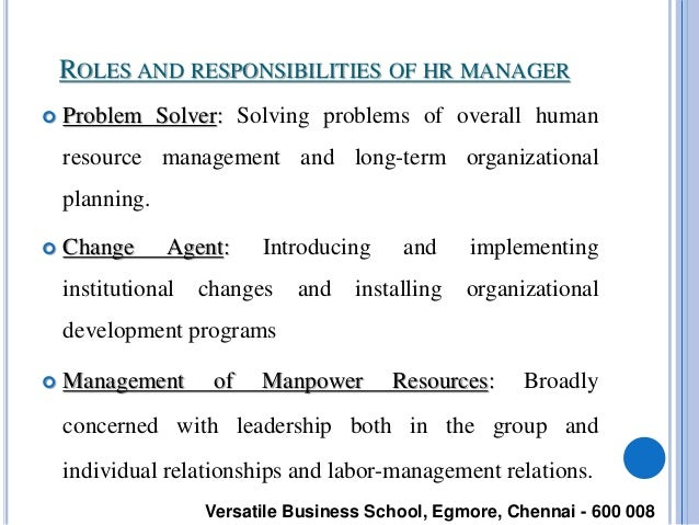 Human Resource Management Full Notes – Human Resources Manager Duties