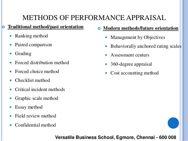 the traditional performance appraisal essay The traditional annual review, or performance summary, will still have a part to play as there is a baseline requirement for properly documented performance information roger ferguson notes: hr departments need documentation in the event of an eeoc or nlrb claim or charge.