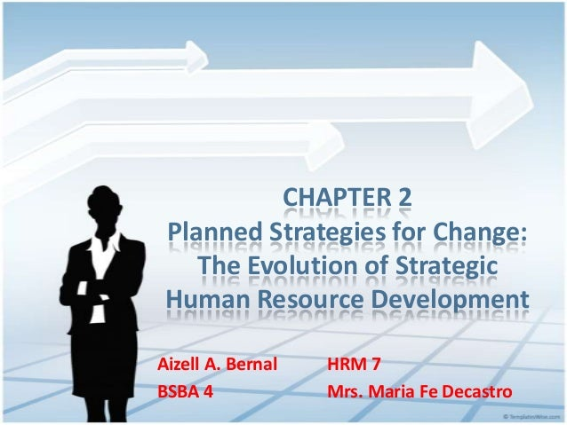 CHAPTER 2 Planned Strategies for Change: The Evolution of Strategic Human Resource Development Aizell A. Bernal HRM 7 BSBA...