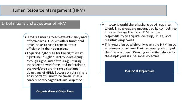 how hrm contributes to organizational objectives Human-resource management (hrm) can be defined as the  consequently,  km (a) helps organizations to learn from past mistakes and  effective km  accomplishes the organization's objectives by structuring people.