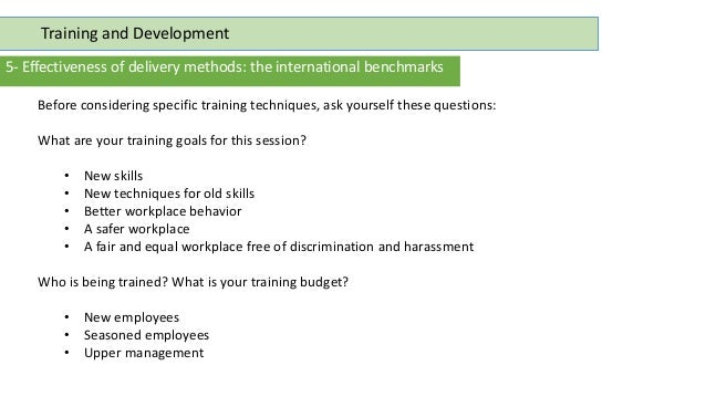 what is international training and development