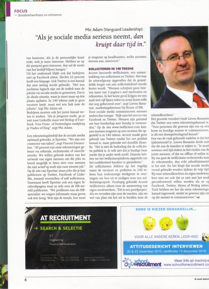 Hr Magazine article on social media usage by recruiters