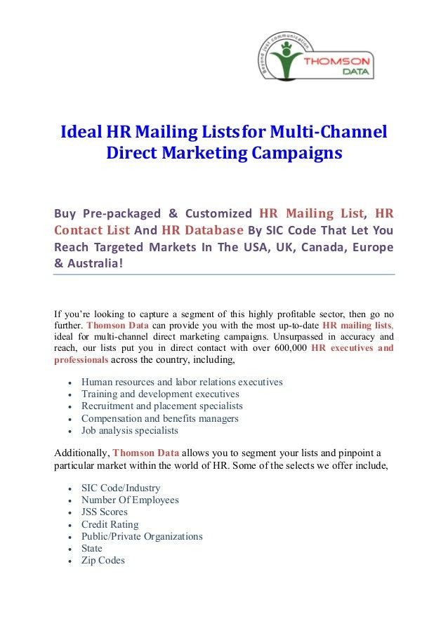 Hr mailing list hr email list - hr contact list - hr database(1)